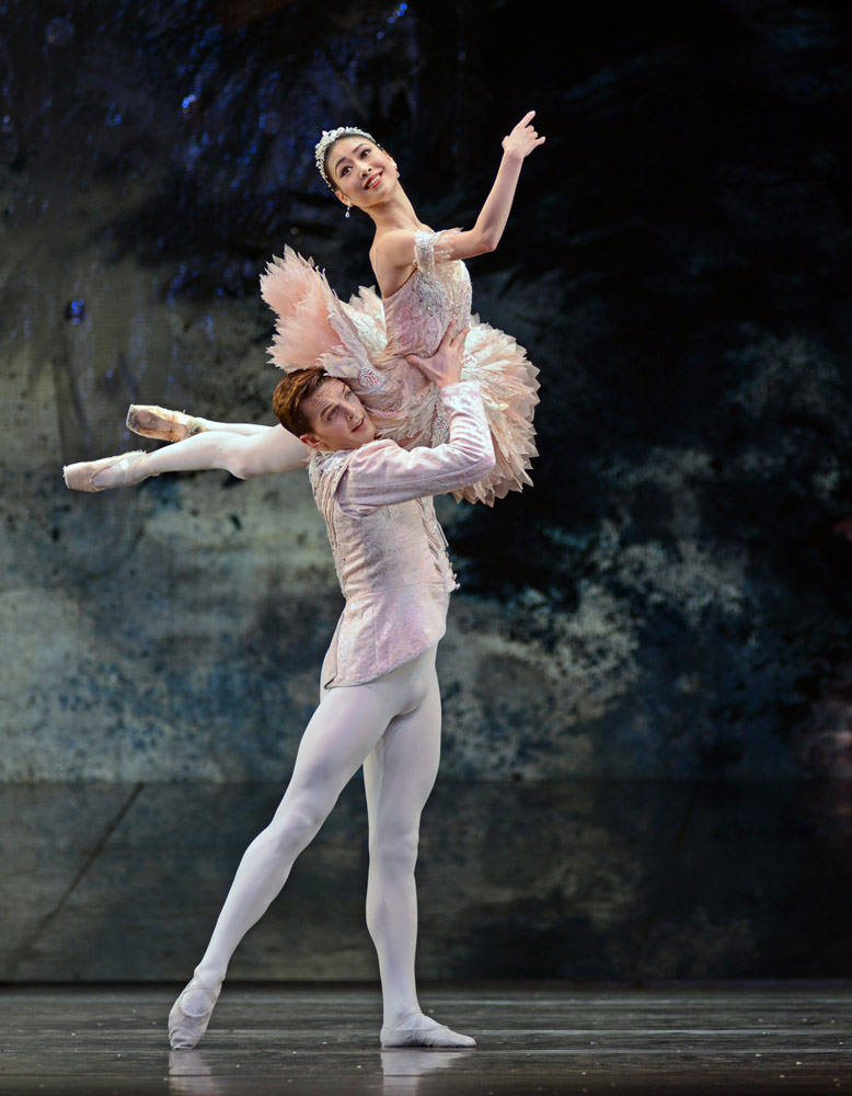 Momoko Hirata and Joseph Caley in The Nutcracker.© Dave Morgan. (Click image for larger version)