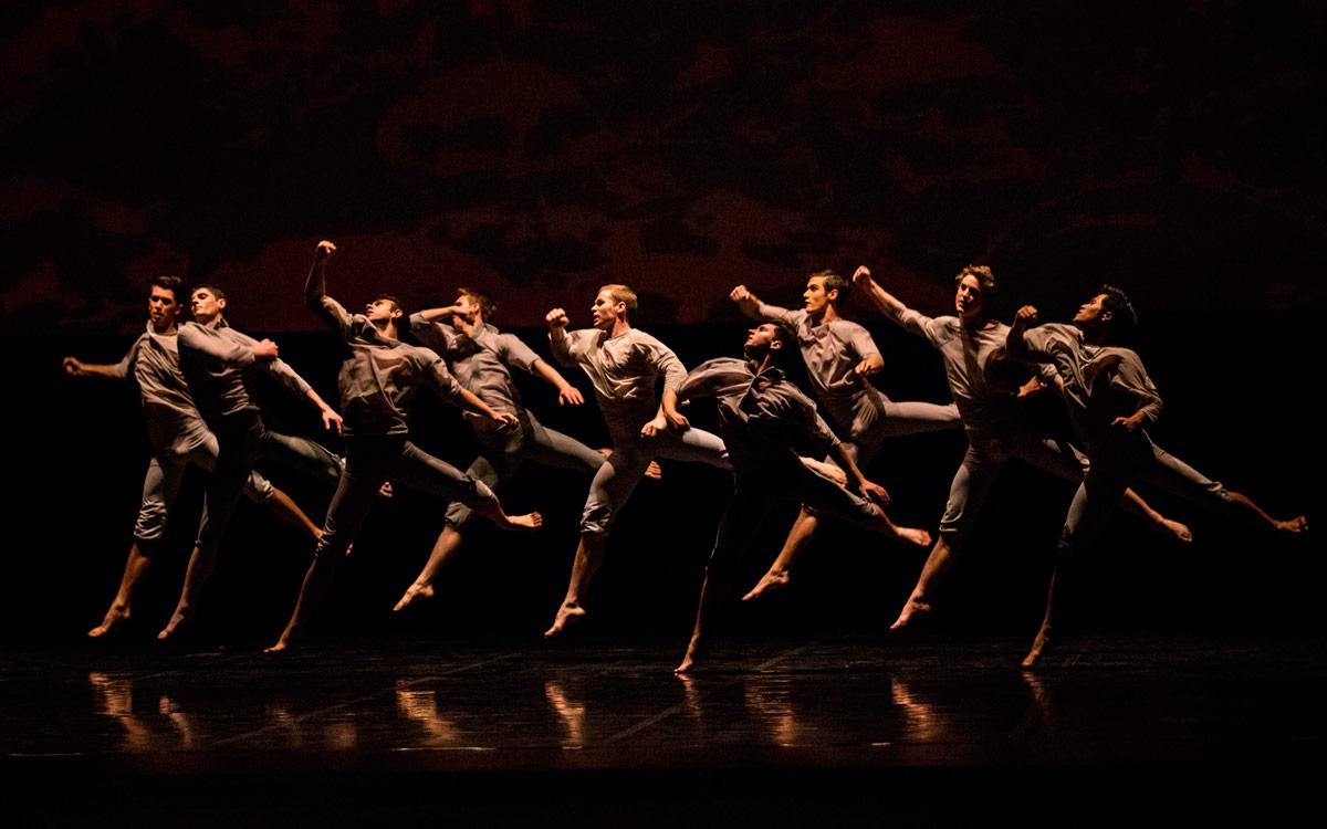 Royal New Zealand Ballet in Neil Ieremia's Passchendaele.© Ellie Richards. (Click image for larger version)