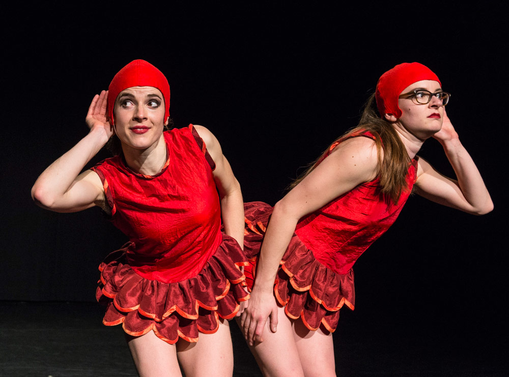 Flora Wellesley Wesley and Eleanor Sikorski in BLOODY NORA! by Liz Aggiss.© Foteini Christofilopoulou. (Click image for larger version)