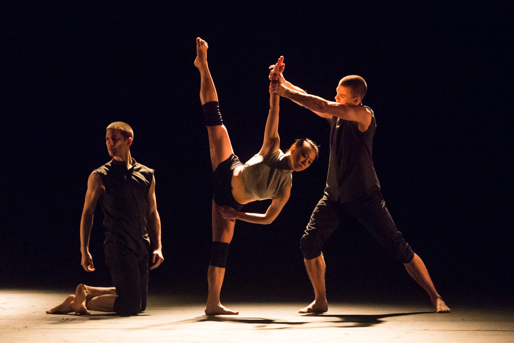 Nathan Young, Yu-Hsien Wu and Adam Kirkham in Broken Fall.© Foteini Christofilopoulou. (Click image for larger version)