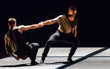 Nathan Young and Adam Kirkham in Piece No.43.© Foteini Christofilopoulou. (Click image for larger version)