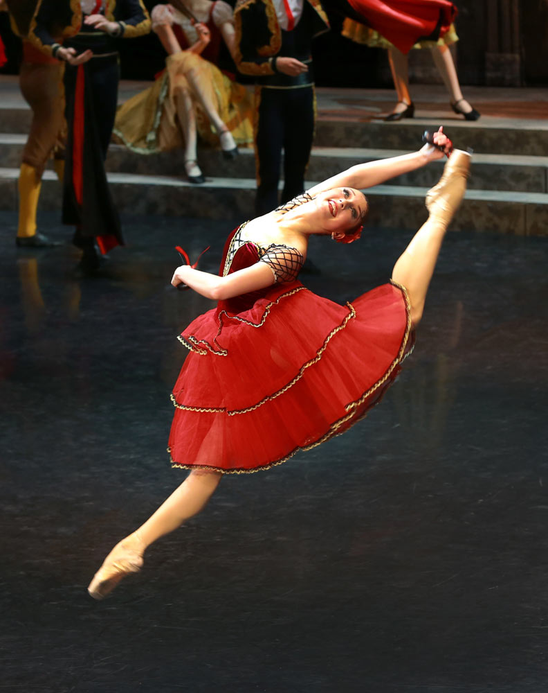 Anastasia Turchina in Don Quixote.© Marina Vatanskaya, Russian State Ballet of Astrakhan. (Click image for larger version)
