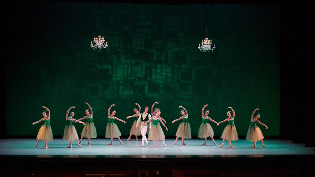 Suzanne Farrell Ballet in <I>Emeralds</I>, choreography by George Balanchine, © The George Balanchine Trust.<br />© Rosalie O'Connor. (Click image for larger version)