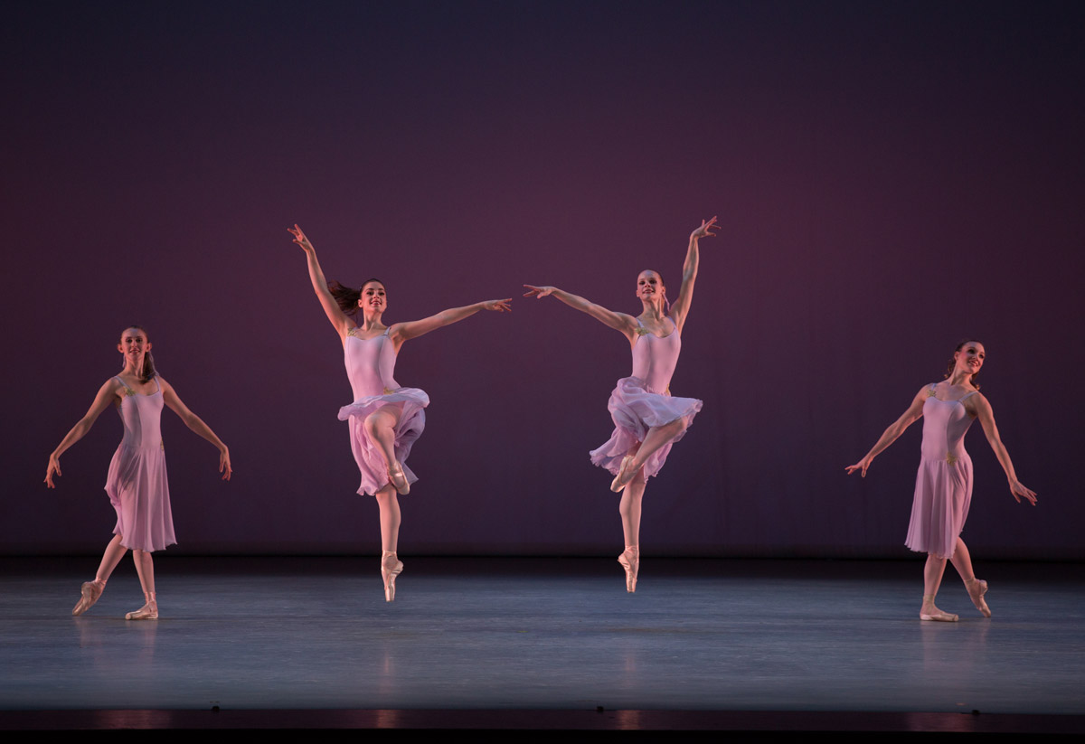 Jenna Nelson and Jordyn Richter (center) in <I>Walpurgisnacht Ballet</I>, choreography by George Balanchine, © The George Balanchine Trust.<br />© Rosalie O'Connor. (Click image for larger version)