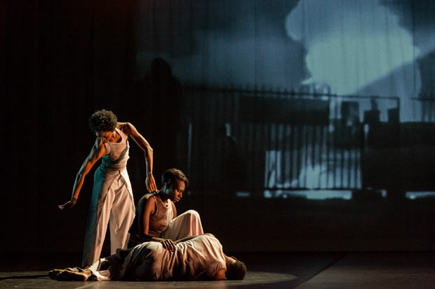 Tamisha Guy, Penda N'Diaye and Jeremy Jae Neal in Absent Matter.© Sharon Bradford. (Click image for larger version)
