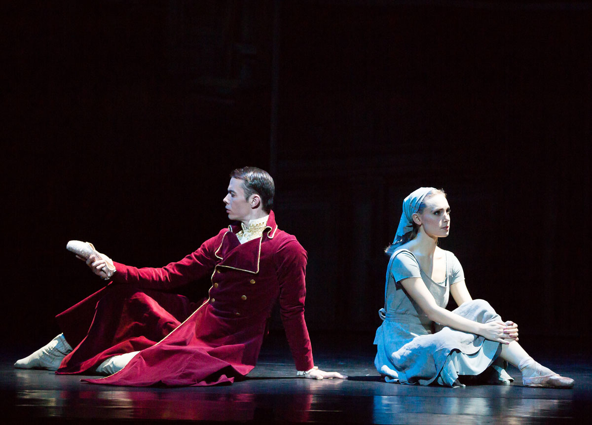 Bethany Kingsley-Garner and Christopher Harrison in Cinderella.© Andy Ross, Scottish Ballet. (Click image for larger version)