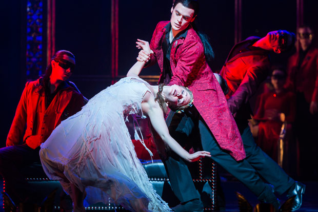 Ashley Shaw and Adam Maskell in <I>Sleeping Beauty</I>.<br />© Foteini Christofilopoulou. (Click image for larger version)