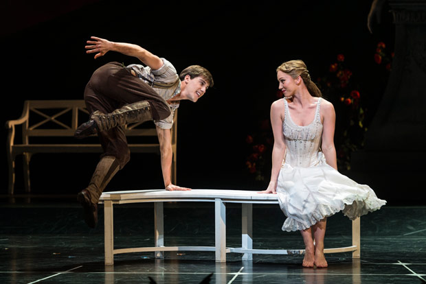 Ashley Shaw and Dominic North in <I>Sleeping Beauty</I>.<br />© Foteini Christofilopoulou. (Click image for larger version)