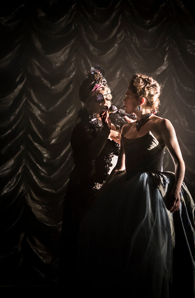 Shelly Watson and Laura Careless in Nutcracker Rouge.© Mark Shelby Perry. (Click image for larger version)