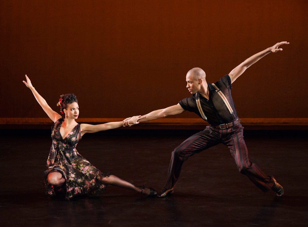 Belen Pereyra and Yannick Lebrun in Paul Taylor's <I>Piazzolla Caldera</I>.<br />© Paul Kolnik. (Click image for larger version)