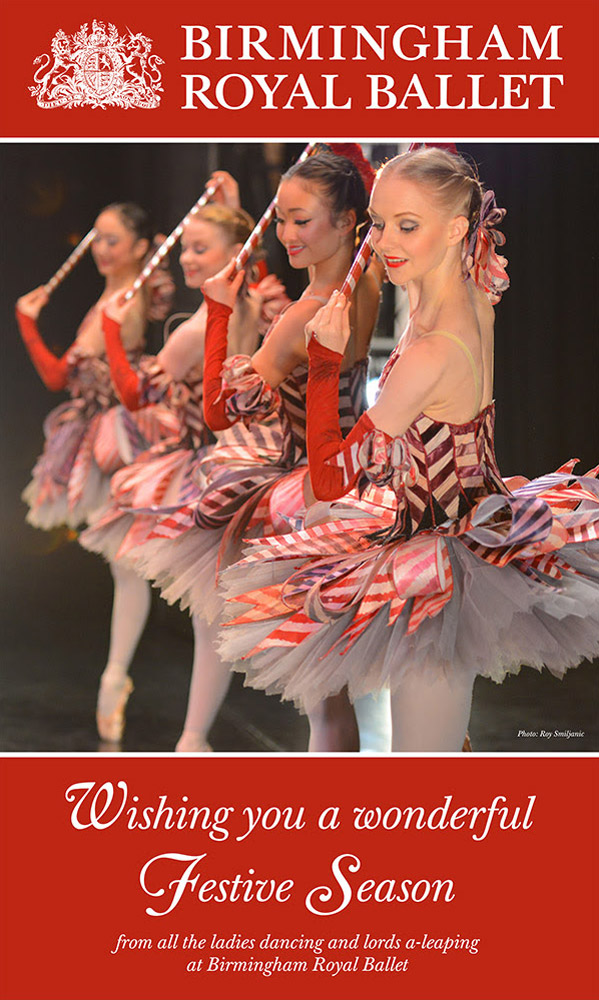 The BRB 2016 Christmas card featuring the Nutcracker Mirlitons.© Roy Smiljanic. (Click image for larger version)