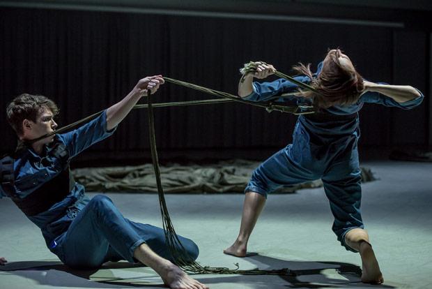 Joshua Barwick and Antonia Hewitt in Simone Damberg Würtz's <I>Bravery (breɪv(ǝ)ril)</I>.<br />© Stephen Wright. (Click image for larger version)