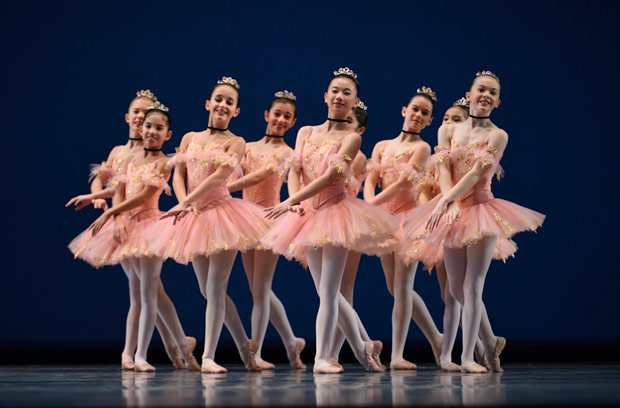 San Francisco Ballet School students in the <I>Waltz of the Hours</I> from Balanchine's <I>Coppélia</I>.<br />© Erik Tomasson. (Click image for larger version)