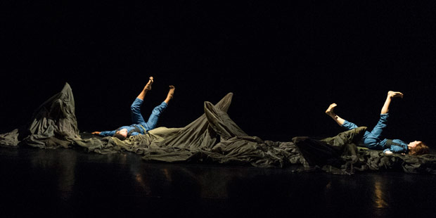 Liam Francis and Antonia Hewitt in Simone Damberg Wurtz's <I>bravery</I>.<br />© Foteini Christofilopoulou. (Click image for larger version)