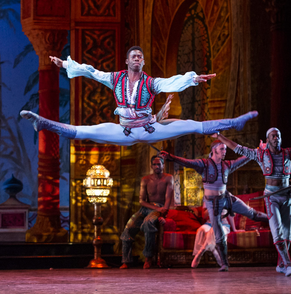 Brooklyn Mack in <I>Le Corsaire</I>.<br />© Foteini Christofilopoulou. (Click image for larger version)