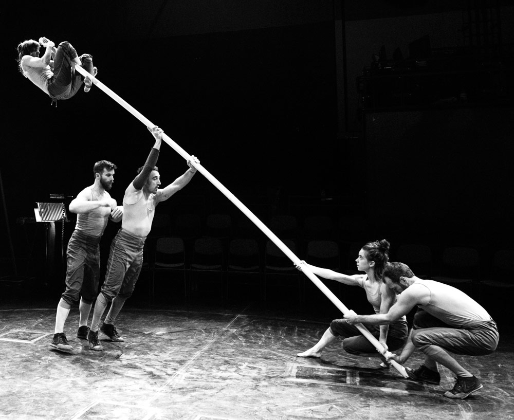 Telma Pinto, Steve Ryan, Nich Glazin, Emily Nicholl and Alex Harvey in Tipping Point.© Foteini Christofilopoulou. (Click image for larger version)