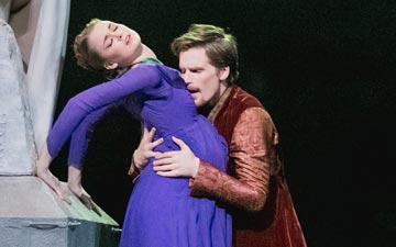 Harrison James, Hannah Fischer and Piotr Stanczyk in The Winter's Tale.© Karolina Kuras, courtesy NBoC. (Click image for larger version)