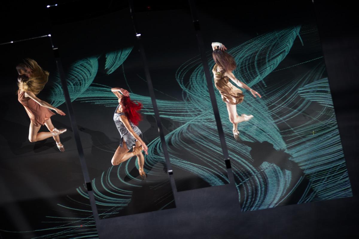 Isabella Boylston, Céline Cassone and Cassandra Trenary in Annabelle Lopez Ochoa's <I>Islands of Memories</I>.<br />© Paula Lobo. (Click image for larger version)