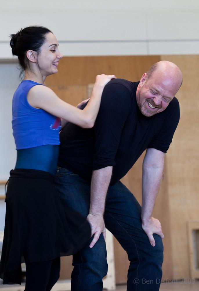 Tamara Rojo and Kim Brandstrup working on <I>Goldberg Variations</I> in 2009.<br />© Ben Delfont. (Click image for larger version)