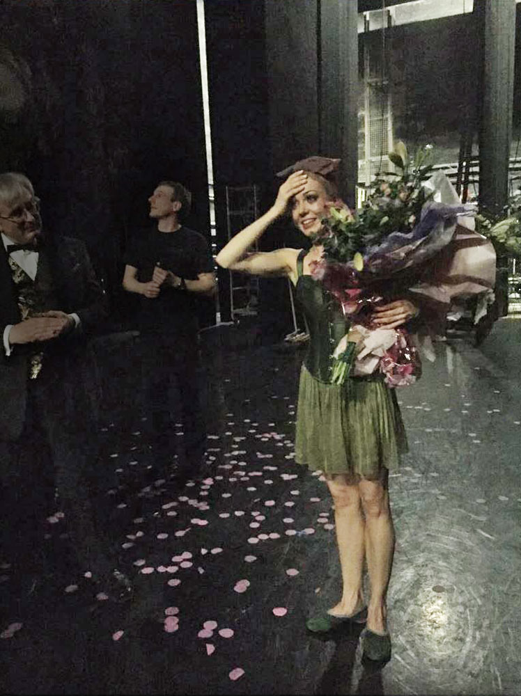 Eve Mutso at her curtain calls - captured by SB Soloist Constance Devernay @BalletCoco on Twitter