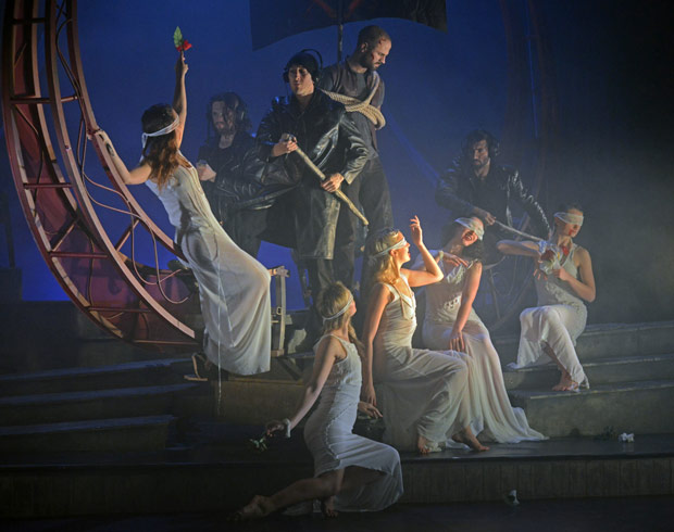 Mark Bruce Company in <I>The Odyssey</I>.<br />© Dave Morgan. (Click image for larger version)