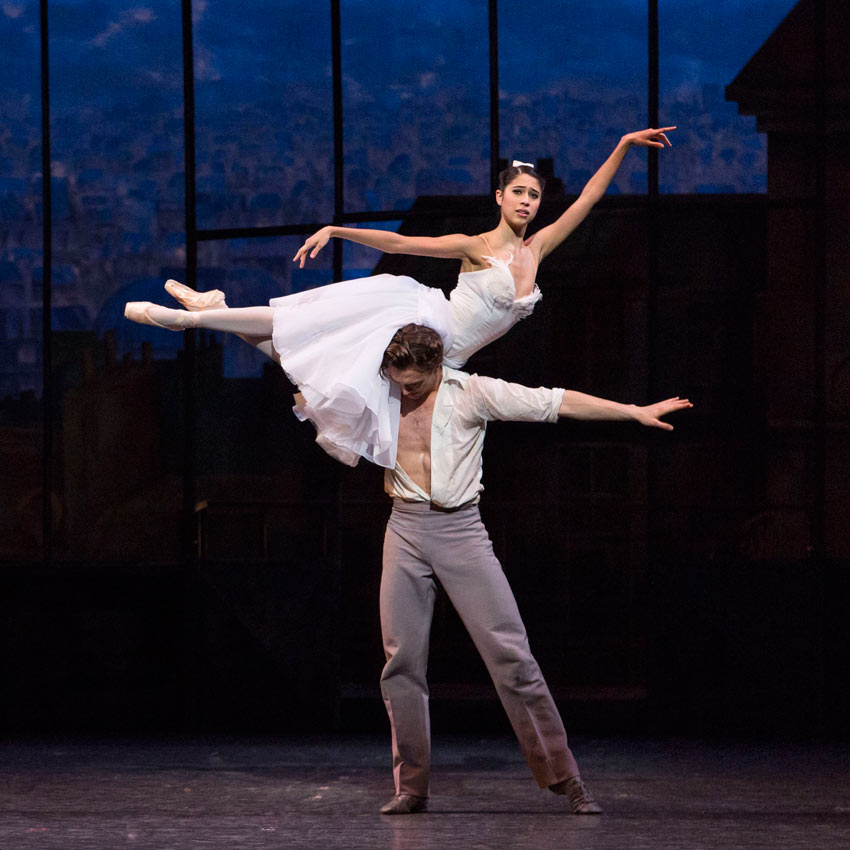 Beatriz Stix-Brunell and Matthew Ball in <I>The Two Pigeons</I>.<br />©ROH, 2016. Photographed by Helen Maybanks.