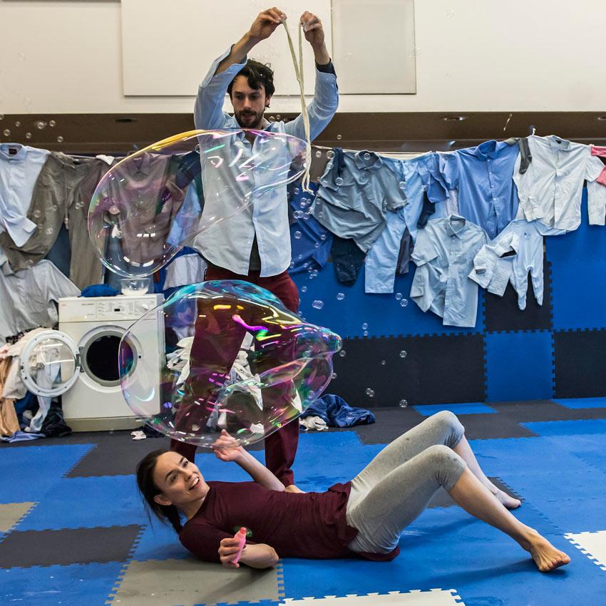 Tara Pilbrow and Amir Giles in <I>2+1</I>.<br />© Lidia Crisafulli. (Click image for larger version)