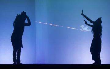 Chitresh Das Dance Company in Shiva.© Margo Moritz. (Click image for larger version)