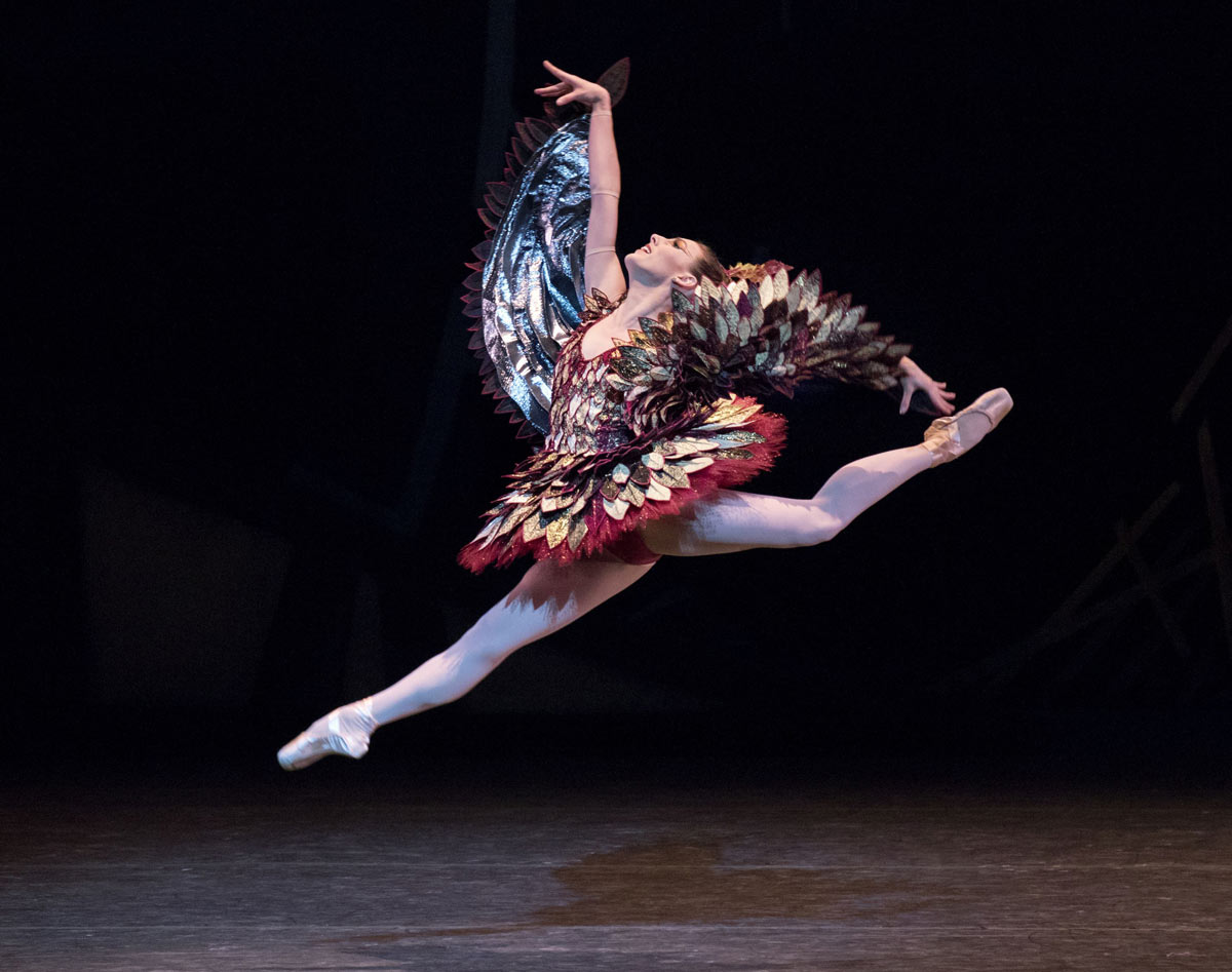 Tiler Peck in Justin Peck's <I>The Most Incredible Thing</I>.<br />© Paul Kolnik. (Click image for larger version)