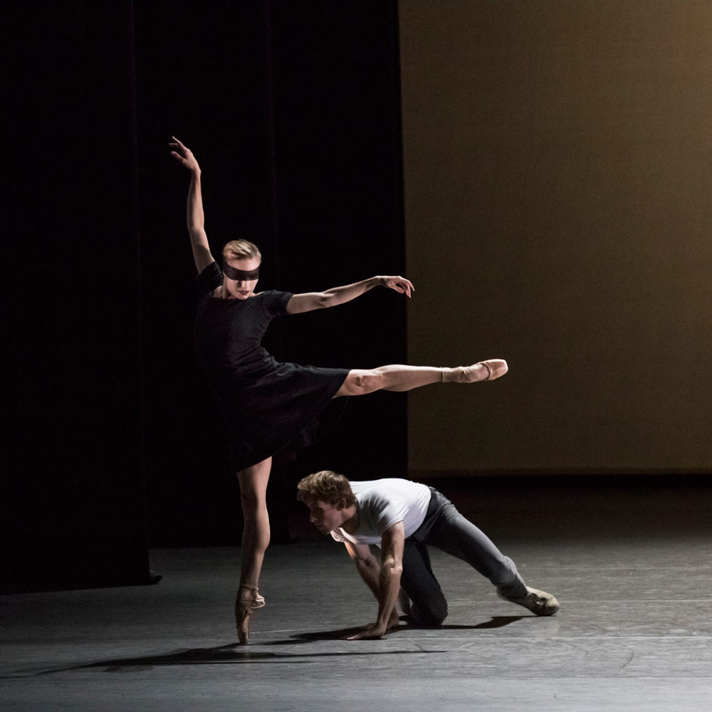 Adrian Danchig-Waring and Sara Mearns in Kim Brandstrup's <I>Jeux</I>.<br />© Paul Kolnik. (Click image for larger version)