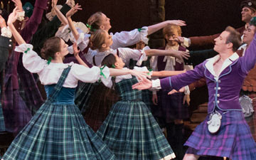 New York City Ballet in the Scottish Reel section of La Sylphide.© Paul Kolnik. (Click image for larger version)
