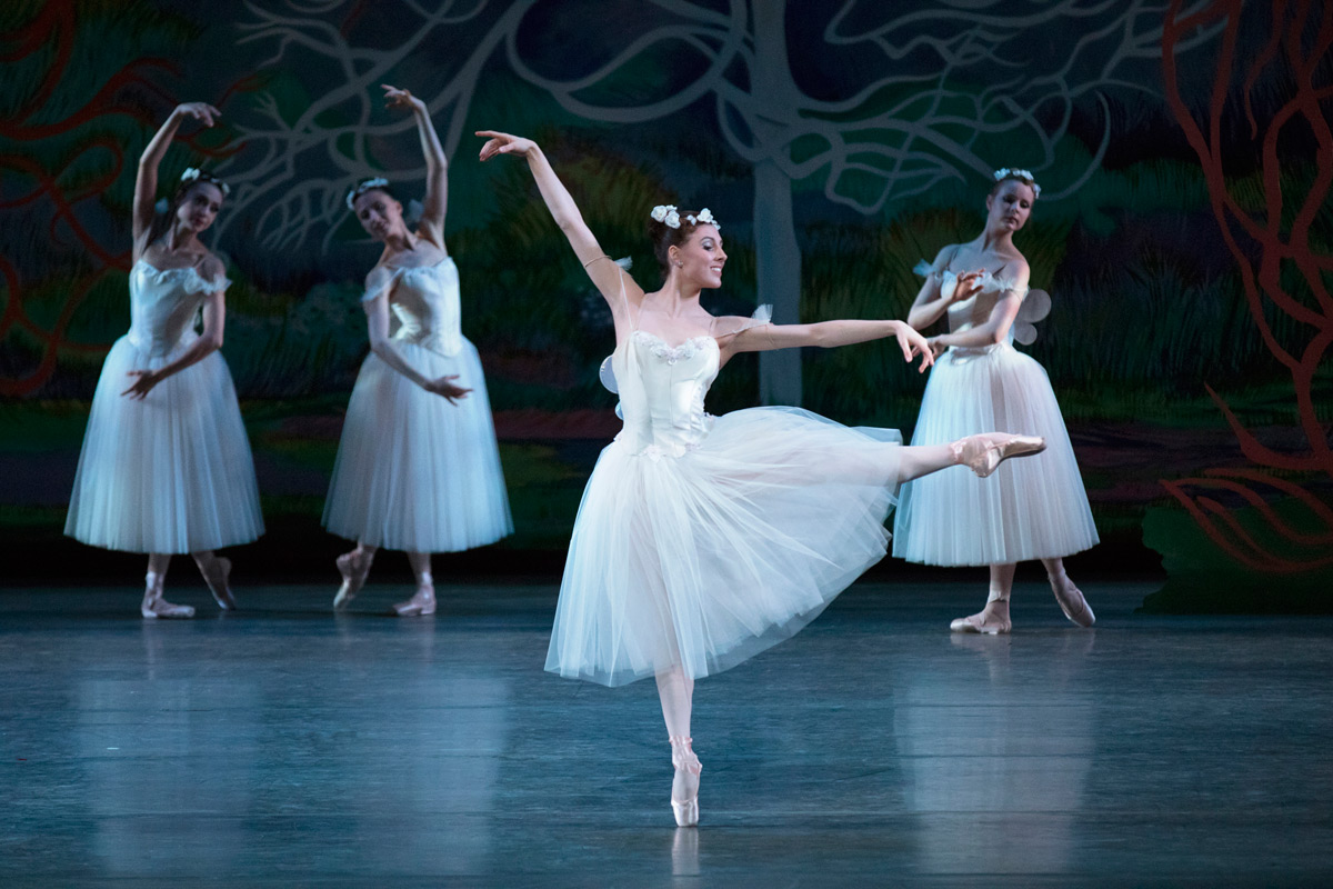 Tiler Peck in <I>La Sylphide</I>.<br />© Paul Kolnik. (Click image for larger version)