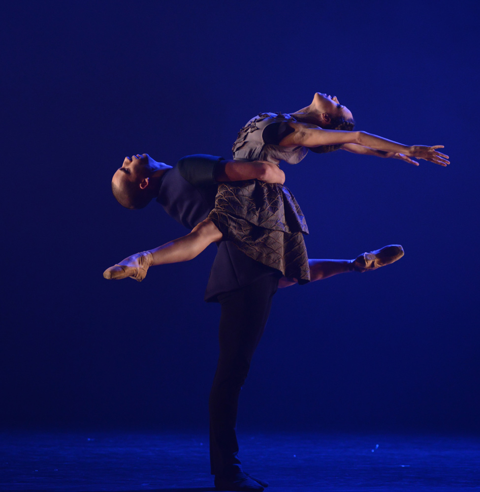 Josua Harriette and Kanika Carr in Christopher Marney's To Begin, Begin.© Dave Morgan. (Click image for larger version)