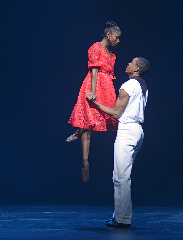 Cira Robinson and Damien Johnson in Christopher Hampson's Storyville.© Dave Morgan. (Click image for larger version)