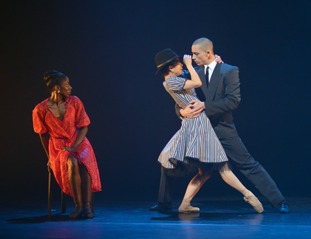 Cira Robinson, Sayaka Ichikawa and Joshua Harriette in Christopher Hampson's Storyville.© Dave Morgan. (Click image for larger version)