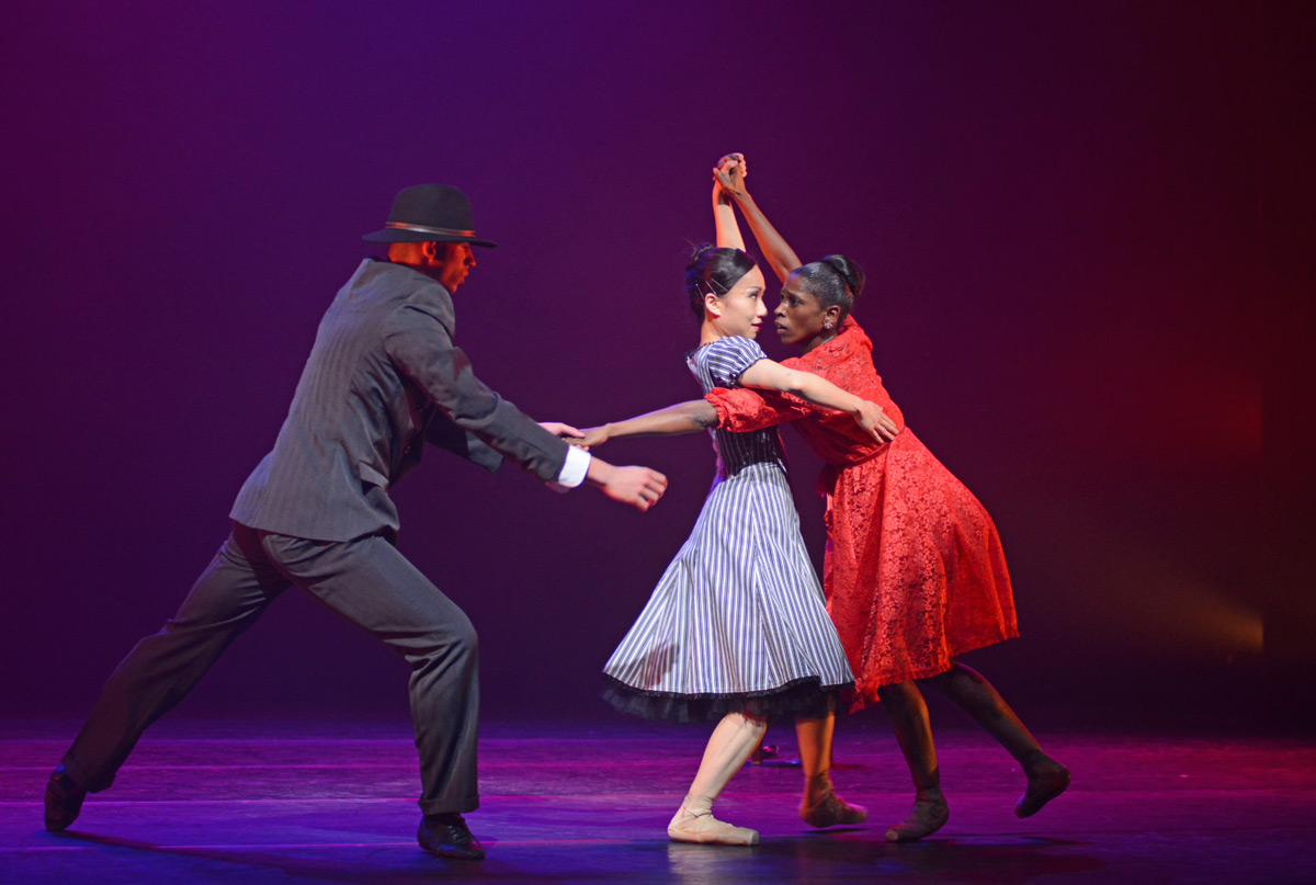 Joshua Harriette, Sayaka Ichikawa and Cira Robinson in Christopher Hampson's <I>Storyville</I>.<br />© Dave Morgan. (Click image for larger version)