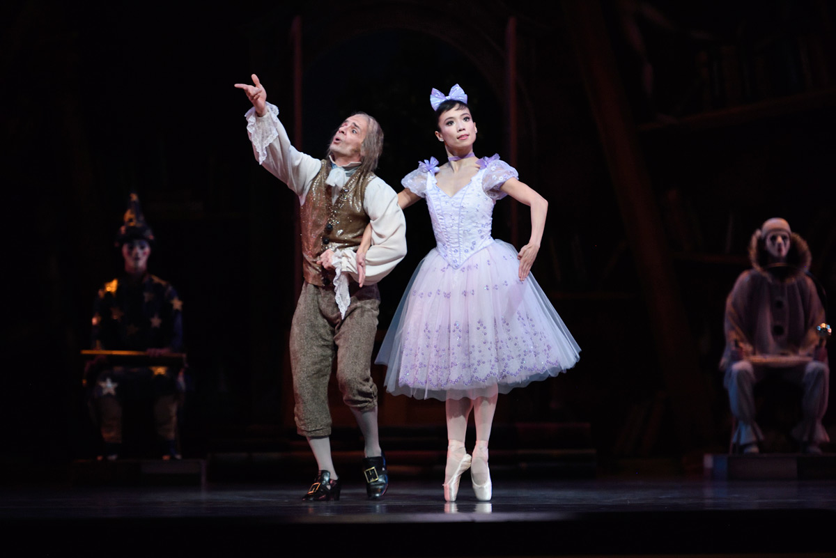 Frances Chung and Pascal Molat in Balanchine's <I>Coppélia</I>.<br />© Erik Tomasson. (Click image for larger version)