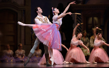Frances Chung and Vitor Luiz in Balanchine's Coppélia.© Erik Tomasson. (Click image for larger version)