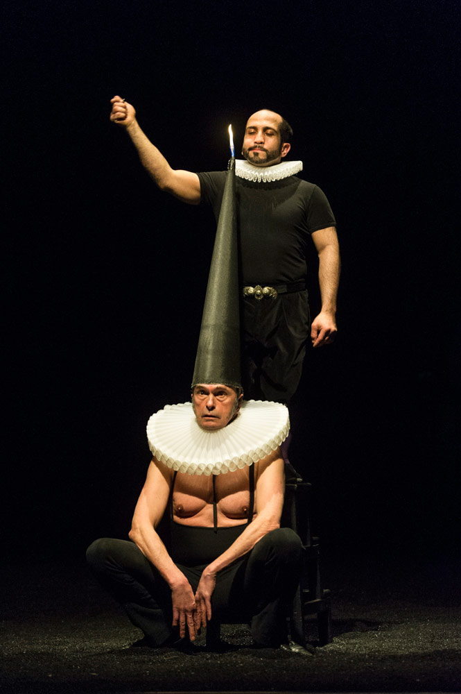 Bartabas and William Panza in <I>Golgota</I>.<br />© Foteini Christofilopoulou. (Click image for larger version)