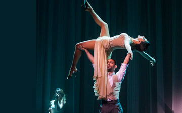 German Cornejo and Gisela Galeassi in Immortal Tango.© Foteini Christofilopoulou. (Click image for larger version)