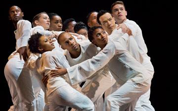 Alvin Ailey American Dance Theater performs Robert Battle's Awakening.© Paul Kolnik. (Click image for larger version)