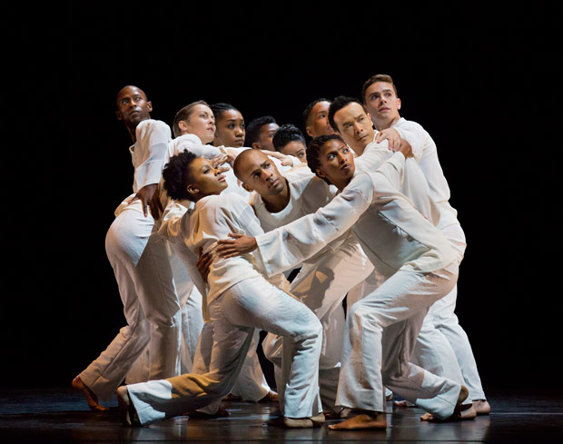 Alvin Ailey American Dance Theater performs Robert Battle's <I>Awakening</I>.<br />© Paul Kolnik. (Click image for larger version)