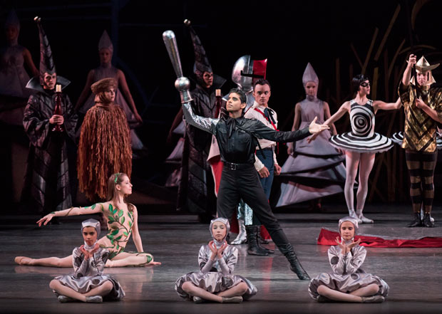 Amar Ramasar and NYCB in Justin Peck's <I>The Most Incredible Thing</I>.<br />© Paul Kolnik. (Click image for larger version)