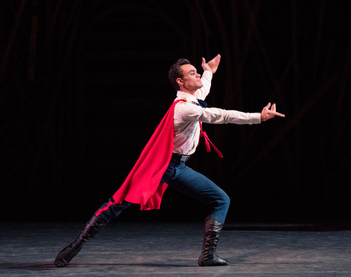 Taylor Stanley in Justin Peck's The Most Incredible Thing.© Paul Kolnik. (Click image for larger version)