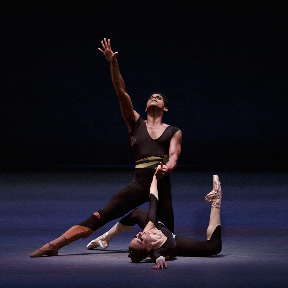 Amar Ramasar and Ashley Laracey in Peter Martins' The Infernal Machine.© Paul Kolnik. (Click image for larger version)
