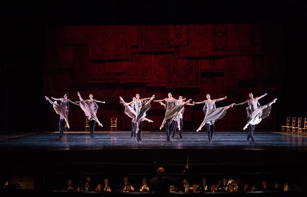 Juilliard Dance in Jiri Kylian's <I>Symphony of Psalms</I>.<br />© Rosalie O'Connor. (Click image for larger version)