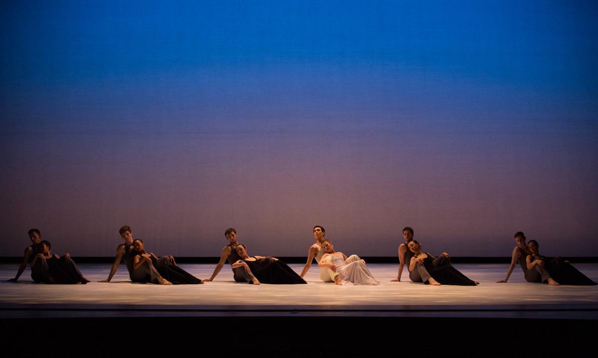 Juilliard Dance in Paul Taylor's <I>Roses</I>.<br />© Rosalie O'Connor. (Click image for larger version)