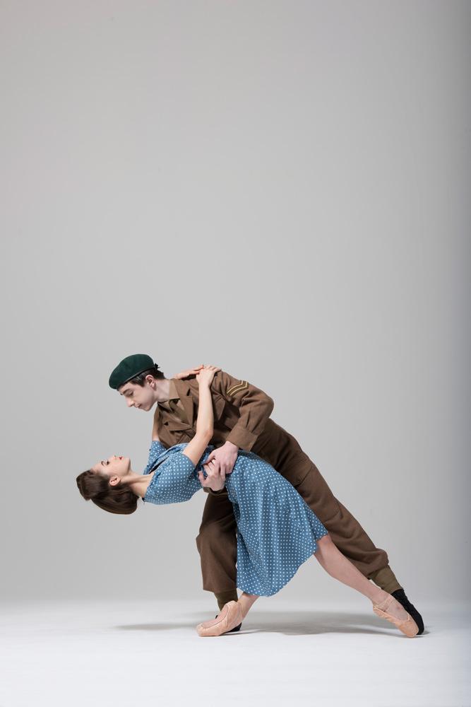 Jasmine Wallis and Joseph Vaughan in Christopher Marney's <I>War Letters</I>.<br />© Bill Cooper. (Click image for larger version) bc-war-letter-jasmine-wallis-joseph-vaughan