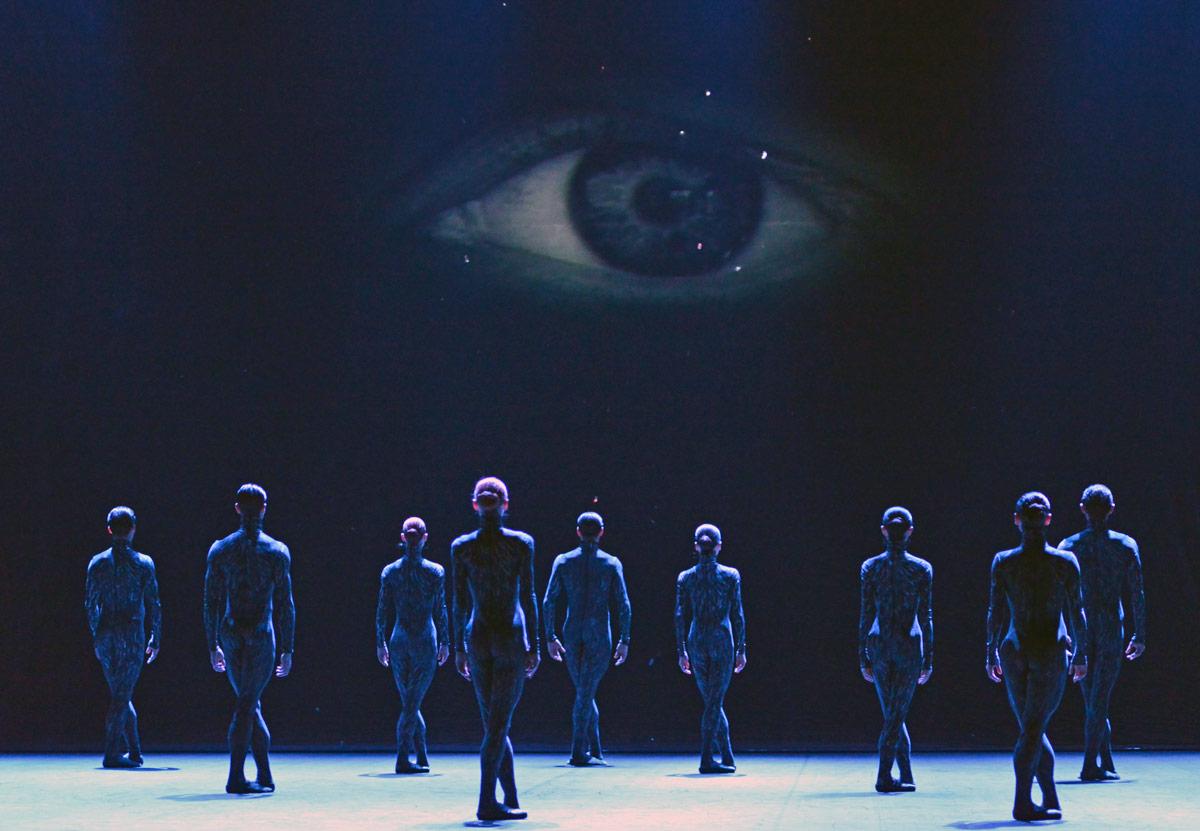 English National Ballet in Aszure Barton's Fantastic Beings.© Dave Morgan. (Click image for larger version)