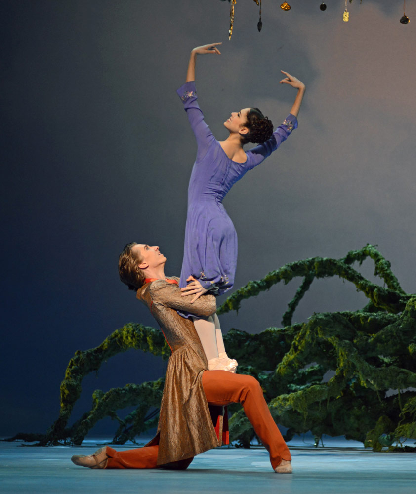 Beatriz Stix-Brunell and Vadim Muntagirov in Christopher Wheeldon's <I>The Winter's Tale</I>.<br />© Dave Morgan, courtesy the Royal Opera House. (Click image for larger version)